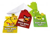 6 Angry Birds™ Einladungskarten
