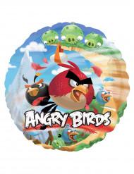 Angry Birds™ Aluminium Luftballon rund 45 cm bunt