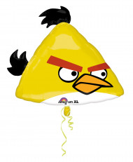 Angry Birds™ Chuck Aluminium Luftballon dreieckig 23 cm gelb