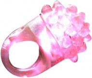 Magischer Ring in rosa mit LED-Licht