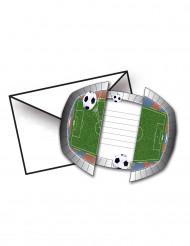 Einladungskarten mit Fußball-Stadion 8 Stück 15 x 10 cm