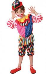 Buntes Clowns-Kostüm für Jungen