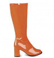 Orange Lackstiefel für Damen