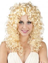 Blonde Locken-Perücke für Damen