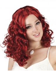 Rote Locken-Perücke für Damen