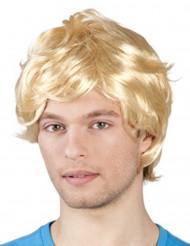 70er-Jahre Herren-Perücke Bubikopf blond