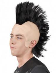Punk-Perücke mit hochgegeltem Haarkamm für Herren