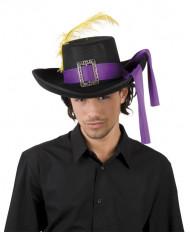 Musketier-Hut mit lila Band für Erwachsene