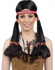 Indianer-Perücke für Damen