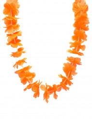 Orangefarbene Hawaii Blumen-Kette