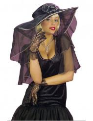 Schwarze Spitzen-Handschuhe für Damen