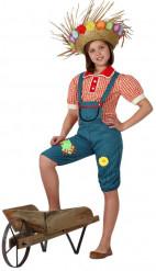 Bauersfrau-Kostüm für Mädchen