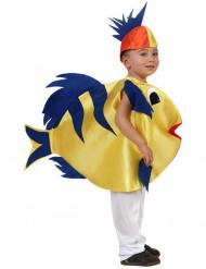 Fischkostüm für Kinder Ozean blau-gelb