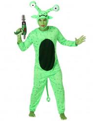 Grünes Alien-Kostüm für Herren