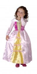 Rosa-gelbes Prinzessinnen-Kostüm für Mädchen