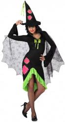 Grünes Hexen-Kostüm für Damen