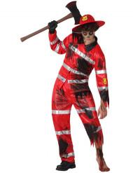 Zombie-Feuerwehrmann-Kostüm für Herren