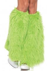 Grüne Fell-Stulpen