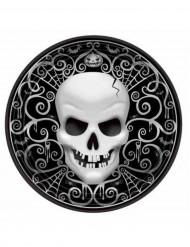 8 Halloween Totenkopf-Teller