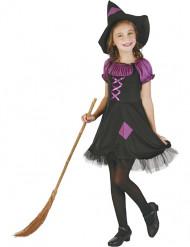Lila Hexen-Kostüm für Mädchen