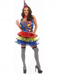 Schickes Clowns-Kostüm für Damen