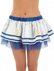 Blau-weißes Marine-Tütü für Damen
