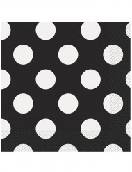 16 schwarze Papier Servietten