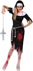 Zombie-Nonnen-Kostüm für Damen