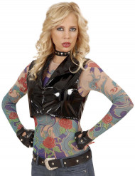 Langärmliges Oberteil mit Tattoos für Damen