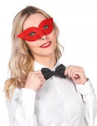 Venezianische Augenmaske in Rot für Erwachsene