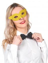 Venezianische Augenmaske in Gelb für Erwachsene