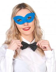 Venezianische Augenmaske in Blau für Erwachsene