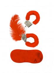 Rote Fell-Accessoires für Erwachsene