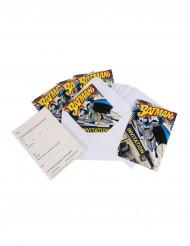 6 Einladungen mit Umschlag Batman™