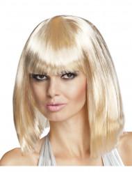 Blonde Bob-Perücke mit mittellangem Haar für Damen