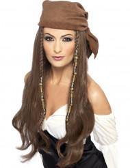 Piraten Langhaar Perücke für Damen