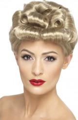 Blonde Retro Vintage Perücke
