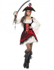 Edles Seeräuber-Kostüm für Damen