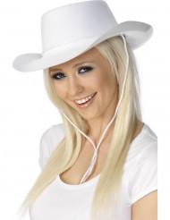 Weißer Cowboy-Hut für Erwachsene