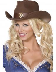 Cowboy-Sheriff-Hut für Erwachsene