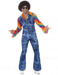 Disco-Kostüm in Jeansoptik für Herren