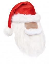 Weihnachtsmann Mütze und Bart in einem für Erwachsene