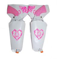 Weiß-rosa Revolver für Mädchen