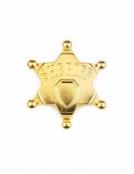 Sheriff-Stern in gold für Erwachsene