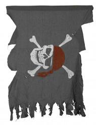 Zerfetzte Piraten-Flagge grau-weiss-rot