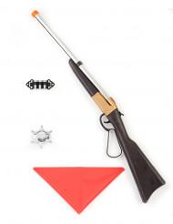 Cowboy Waffen-Set aus Kunststoff