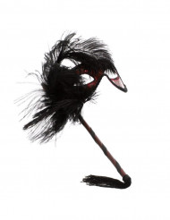 Schwarz-rote Augenmaske für Erwachsene