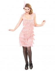 Rosa 20er Jahre-Kostüm für Damen