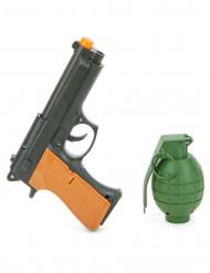 Set mit Revolver und Handgranate