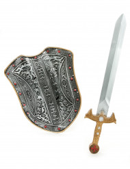Mittelalter-Set mit Schild und Schwert